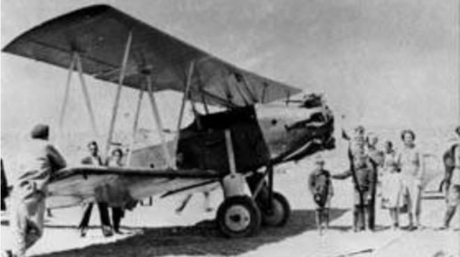 El famoso avión Morane Saulnier con el que Luis Candelaria cruzó los Andes en 1918
