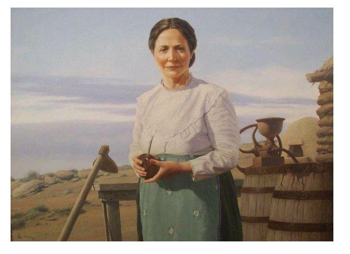 Retrato de Carmen Funes - La Pasto Verde . Autor: Jorge González