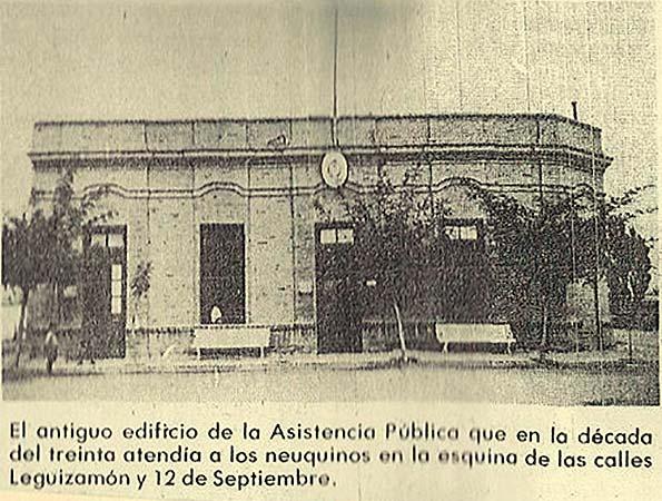 Asistencia pública en Neuquén - década del 30