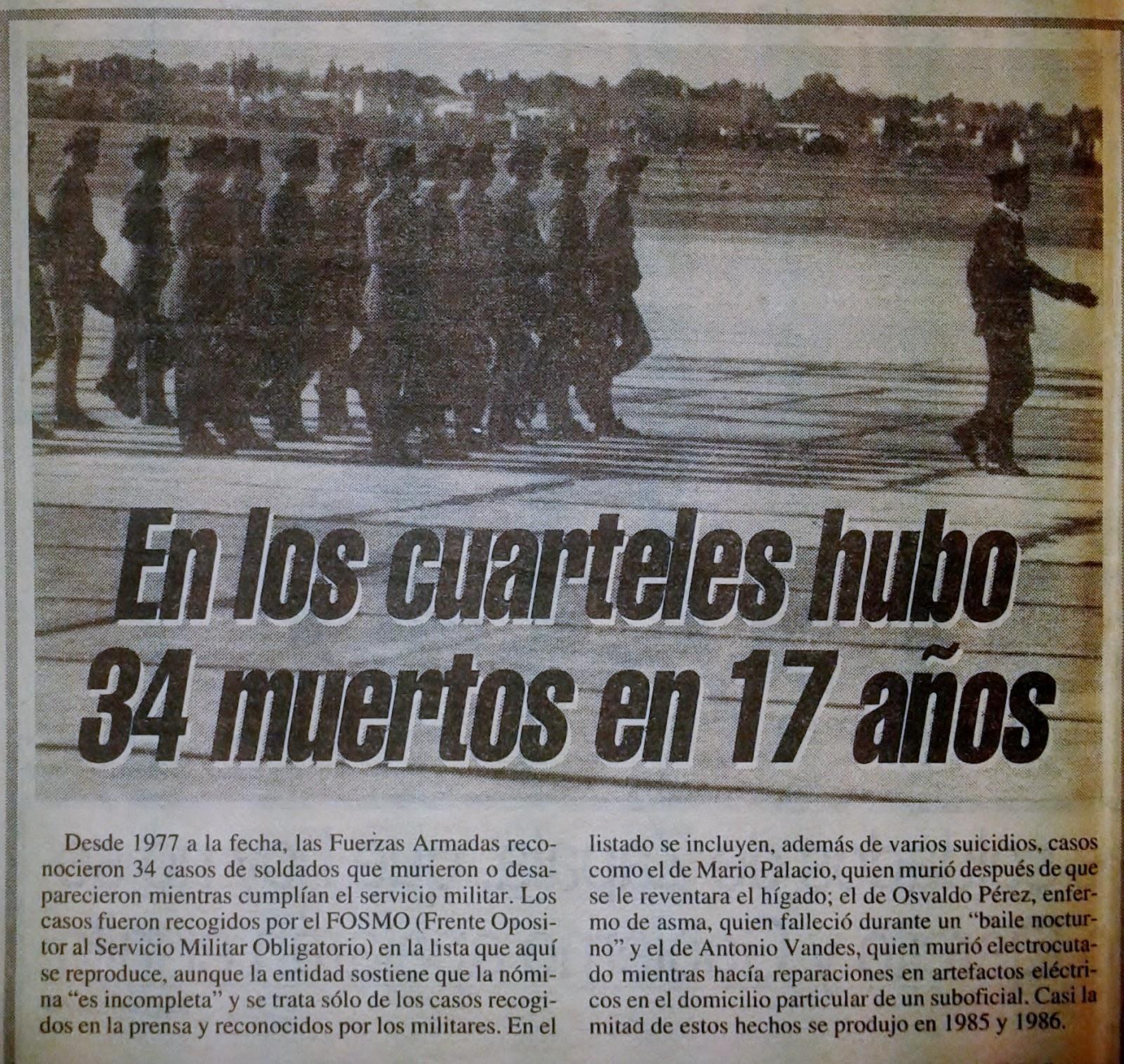 Artículo diario Clarín