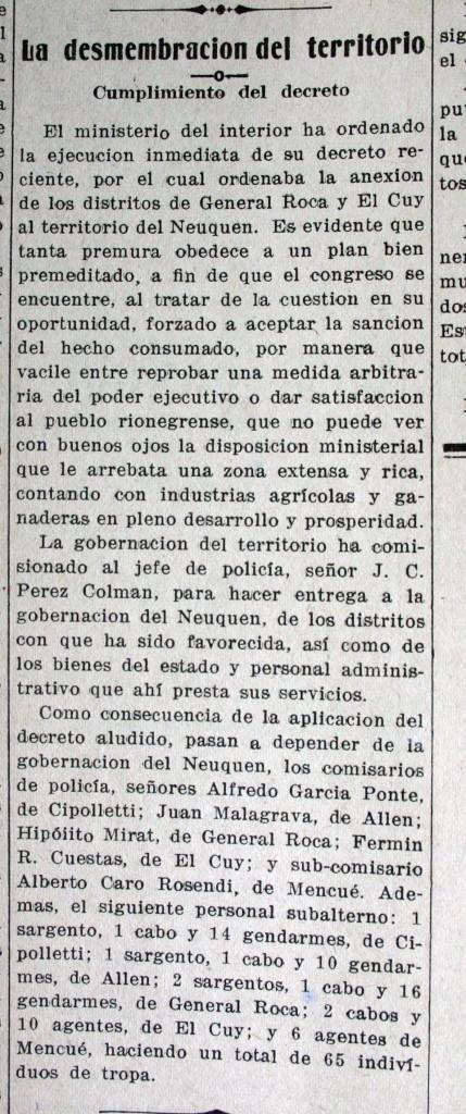 Periódico de Viedma Nueva Era 14/05/1916