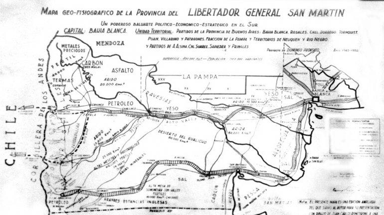 """Detrás de la """"independencia"""" de la región estaban los intereses políticos de Bahía Blanca, que quería separarse del poder centralista."""