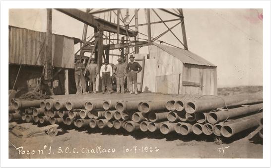Pozo 1, Challacó, 1922