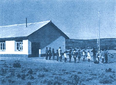 Escuela Provincial Nº 33 Ramón Solanas Puerta, en el paraje Yuncón, departamento Collón Curá, a treinta kilómetros de Piedra del Águila, ubicada en la comunidad mapuche Ancatruz