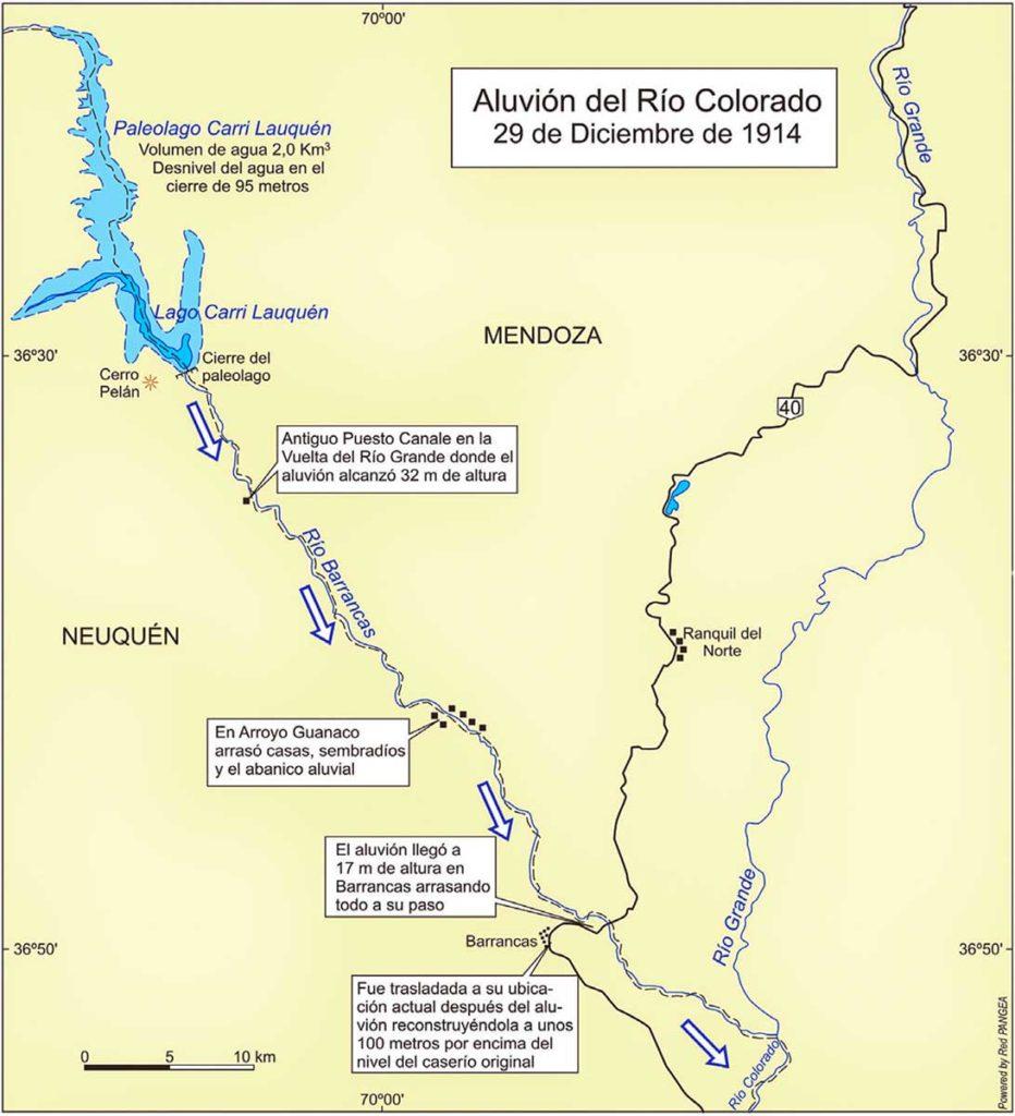 El aluvión del río colorado - La crezca grande - 1914