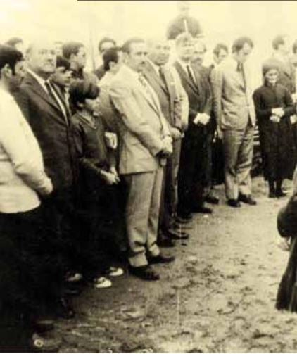 Acto de fundación de Rincón de los Sauces, presidido por el Sr. Gobernador de la provincia de Neuquén, don Felipe Sapag. 20 de diciembre de 1971.