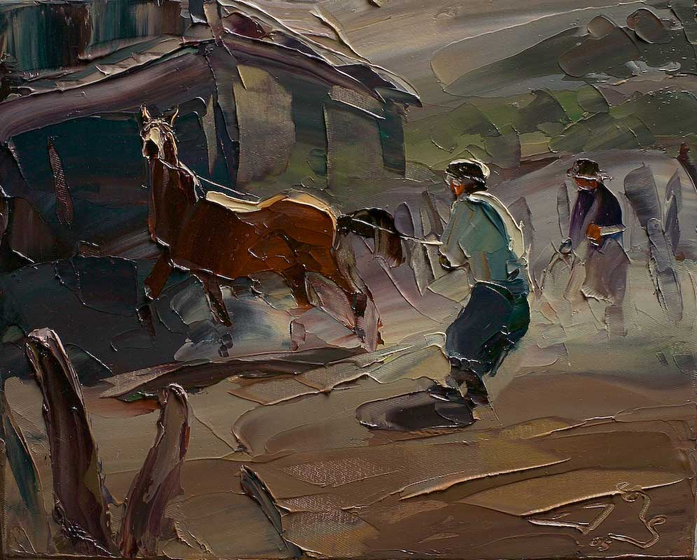 Óleo de Georg Miciu Nicolaevici - San Martín de los Andes