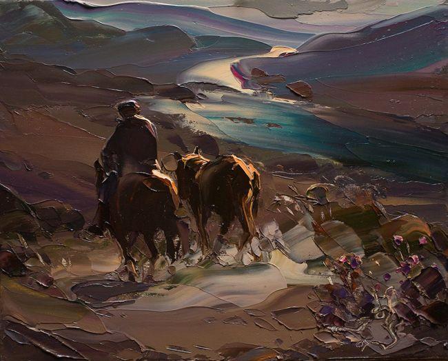Óleo de Georg Miciu Nicolaevici - San Martín de los Andes.