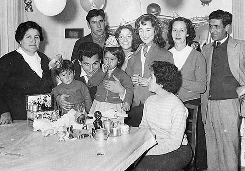 Milton Aguilar y familia