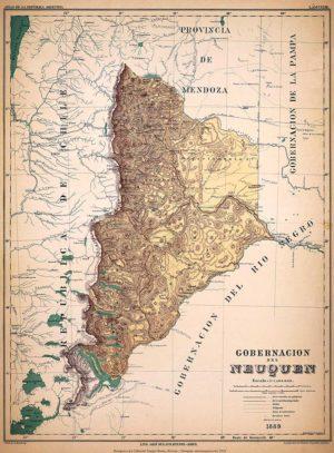 Mapa de la Gobernación del Neuquén – 1889
