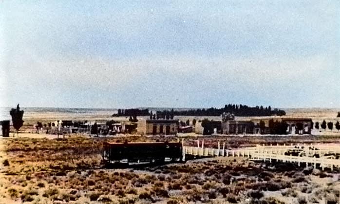 Zapala – Panorámica – Paso Nivel- sin fecha Foto Gentileza Museo Municipal de Zapala