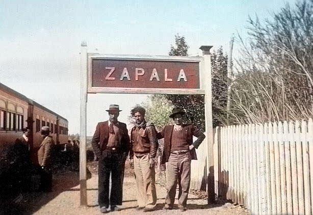 Zapala - Parada de Estación - 1921 Foto Gentileza Museo Municipal de Zapala