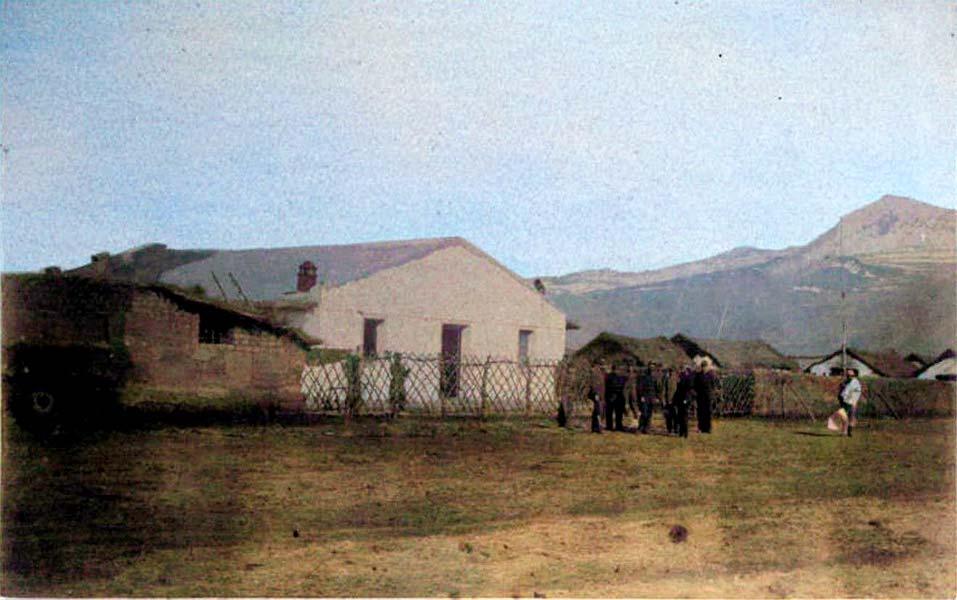 Comandancia del campamento Ñorquín, utilizada luego como Gobernación del territorio.
