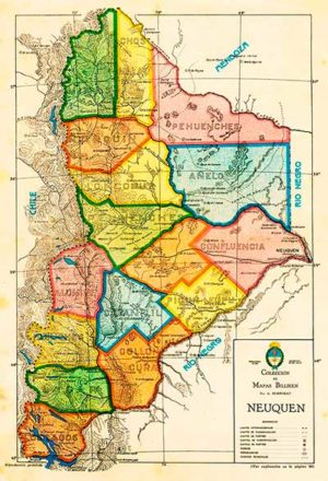 Mapa del territorio del Neuquén – Revista Billiken, 1931