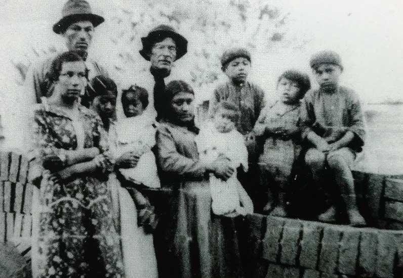 Juan Benigar en Poi Pucón junto a sus hijos