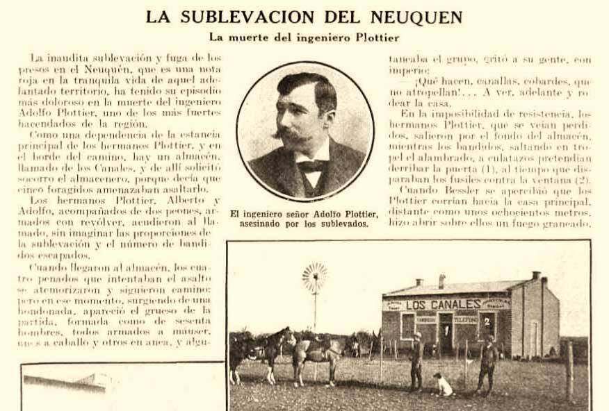 La muerte del Ingeniero Plottier – La sublevación del Neuquén.