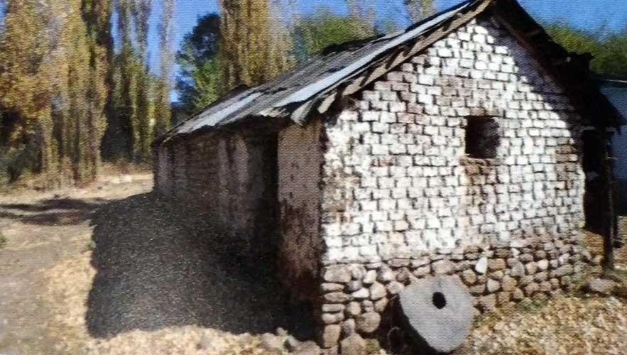 Casa de Doña Adelaida Merino. Allí funcionó la escuela 30 y un molino harinero.