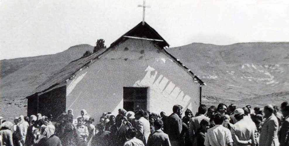 Primera capilla de Las Ovejas.