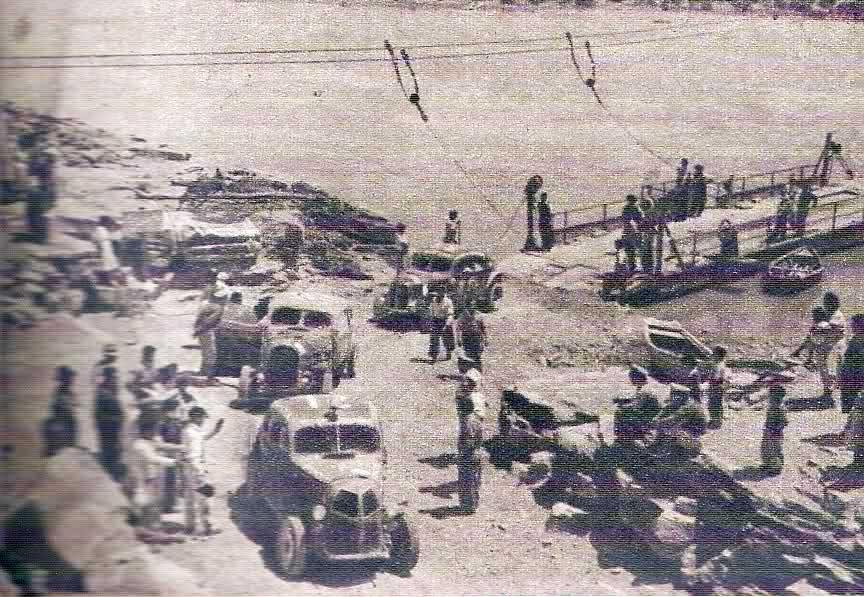 1950 - Carrera de Turimo Carretera Nacional. Cruce Balsa El Huitrín. Foto: www.historiatc.com.ar
