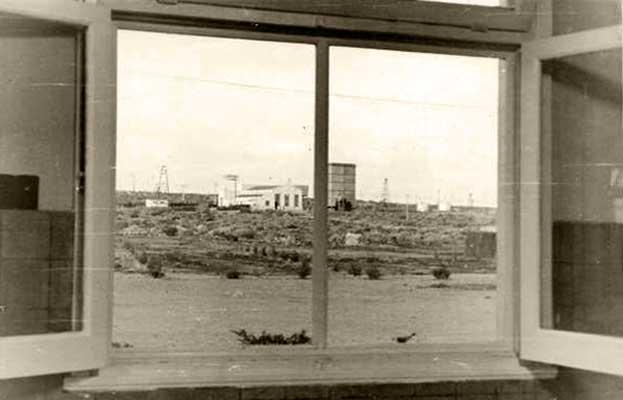 Challacó -desde la ventana de la residencia de los estudiantes de la facultad de Ingeniería de la Universidad provincial del Neuquén