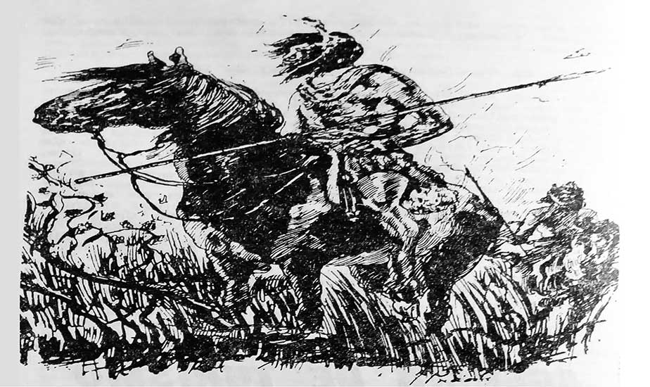 """Imagen ilustrativa: Cacique Pehuenche, del libro de Morales Guiñazú """"Primitivos habitantes de Mendoza"""""""