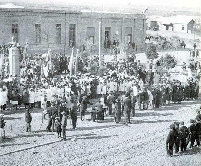 Autor desconocido, Neuquén se viste de gala, 1921. Sistema Provincial ele Archivos.