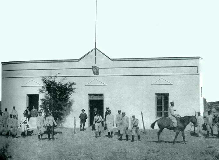 Autor desconocido. La Jefatura de Policía, 1910. Museo Gregorio Álvarez.