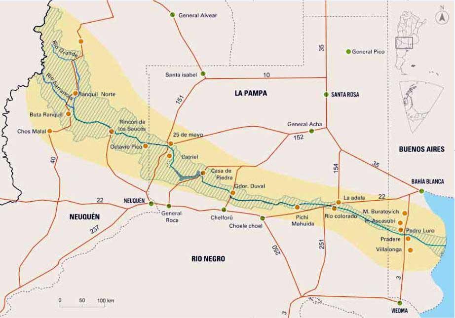 La cuenca del Río Colorado.