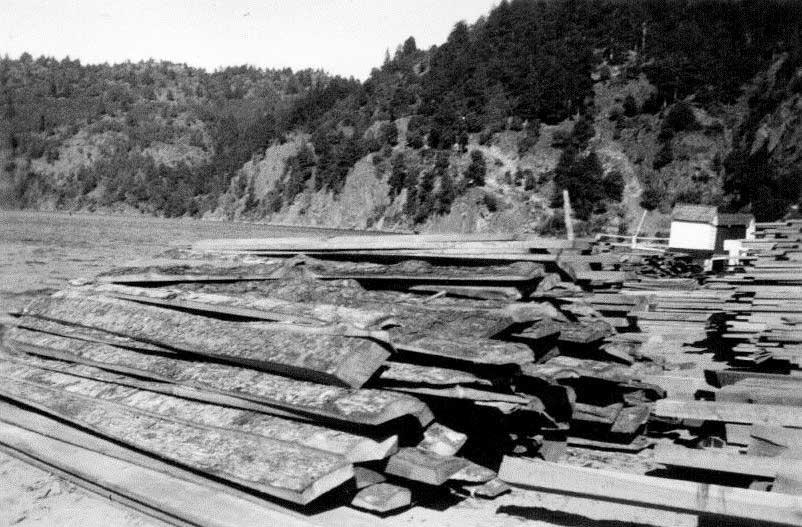 Maderas recien descargadas, noviembre de 1942.