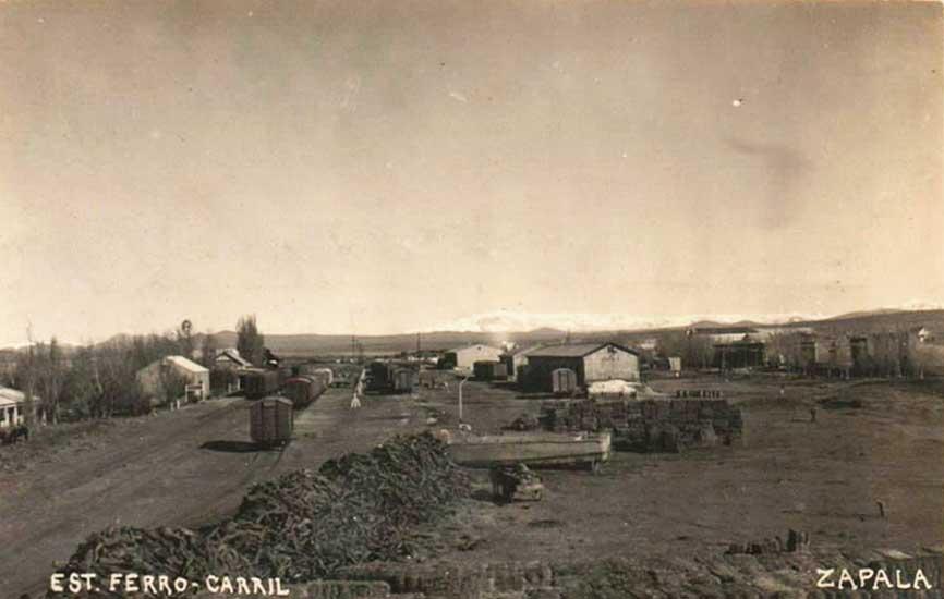 Estación de ferrocarril de Zapala a inicios de la década del 40