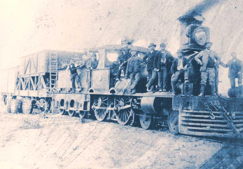 Ferroviarios en la estación Neuquén. Comienzos del siglo XX