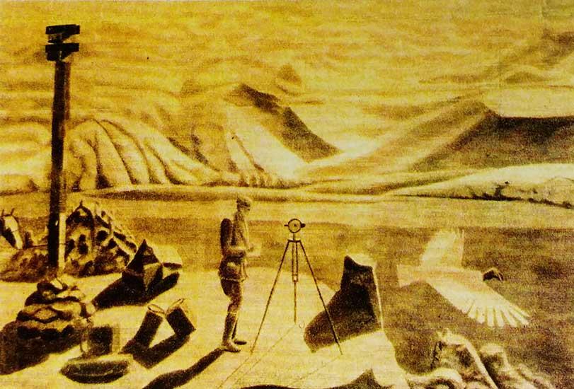 Obra realizada por el propio Candelaria refiriéndose a los momentos previos a la travesía.