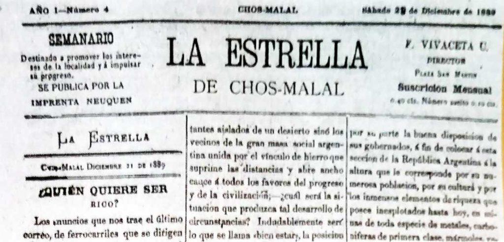 Diario La Estrella de Chos Malal.