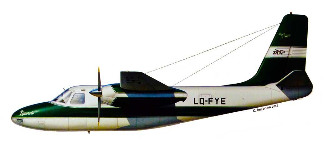 Rockell Aero Commander 680 s/n 499-169 LQ-FYE. TAN tuvo dos Aero Commander, el otro era le modelo 560.