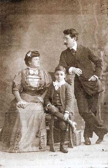Eduardo Talero y su familia, su esposa Ruth Reed y su hijo Eduardo - 1900