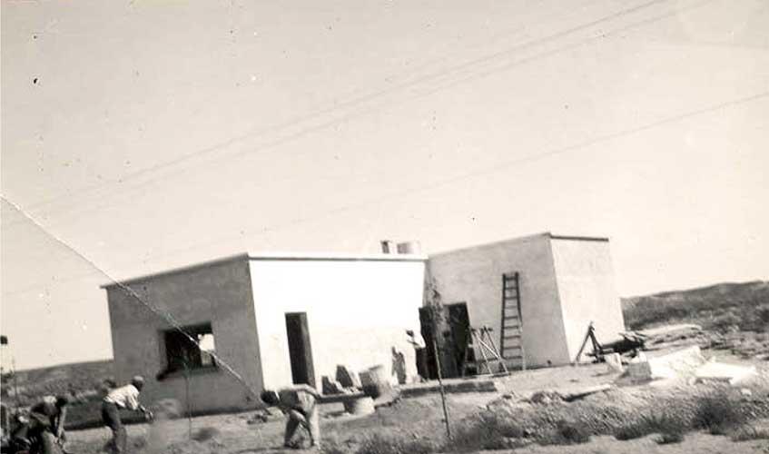 Construcción de las viviendas del personal superior