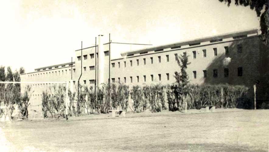 Vista posterior de los pabellones que comenzaron a construirse en el año 1947