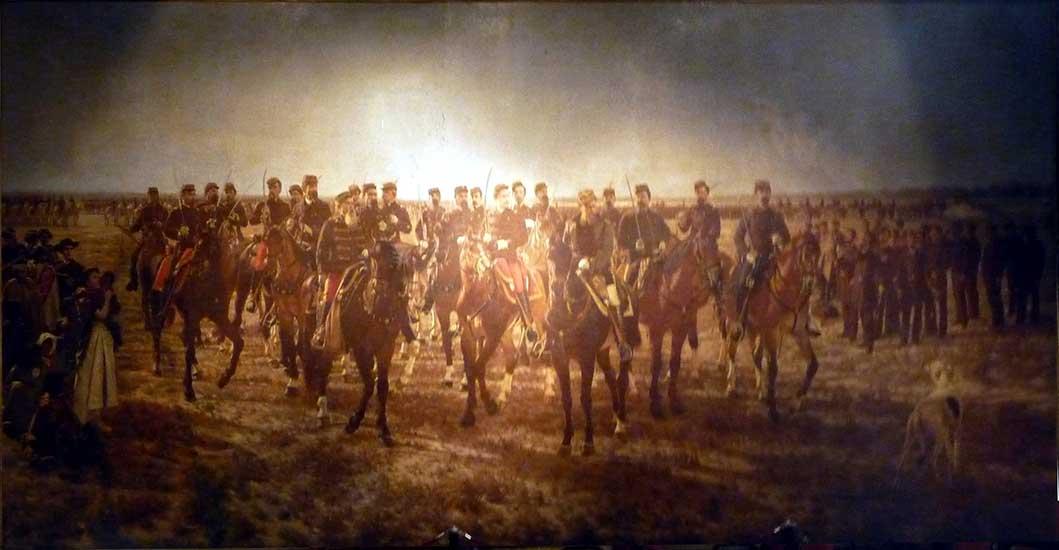 Ocupación militar del Rio Negro por la expedición al mando del gral. Julio A. Roca 1879 (óleo-1896) MHN