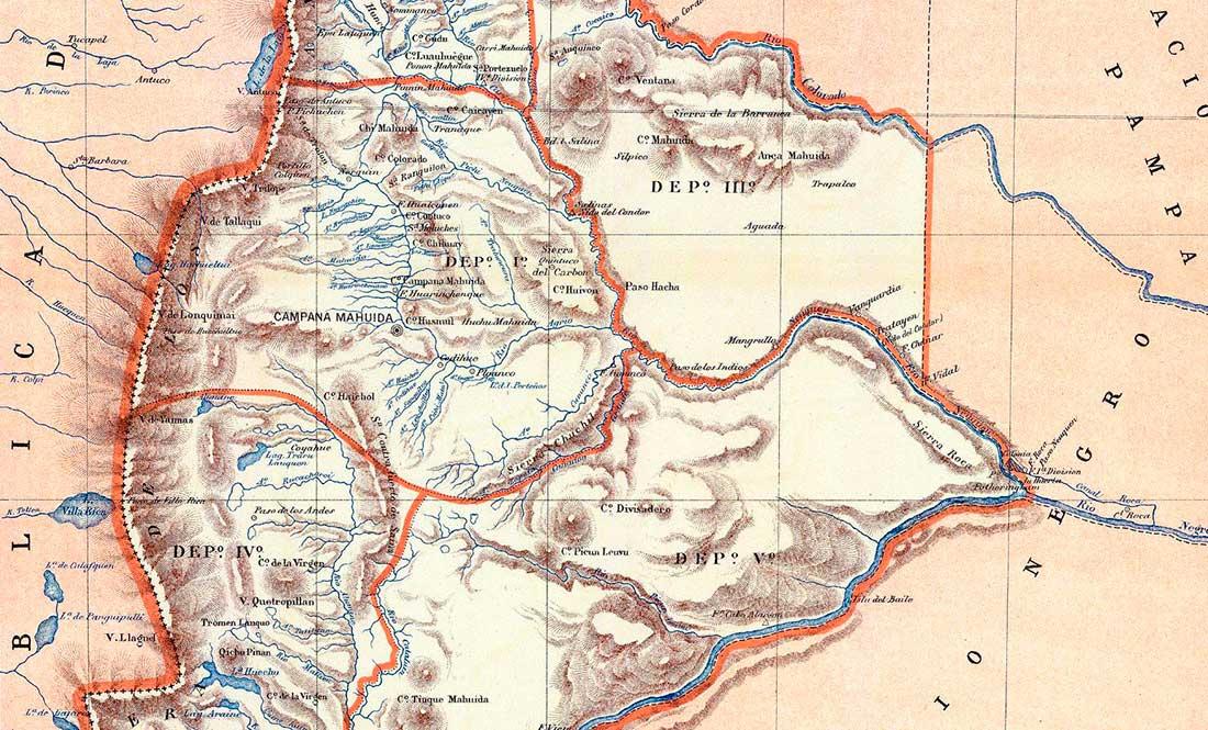 Mapa de Neuquén de 1887