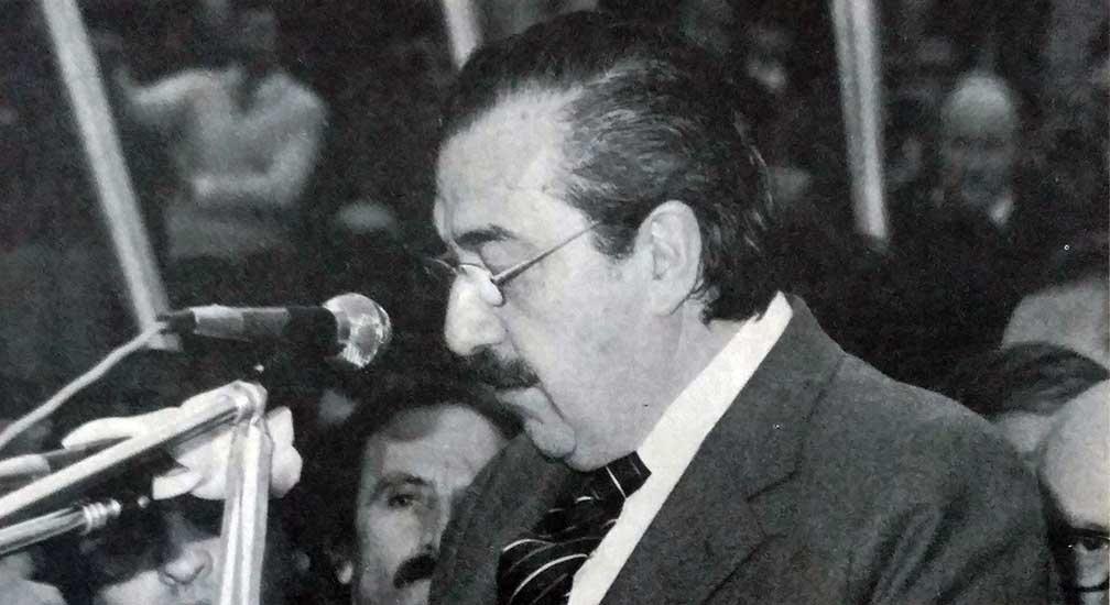 Discurso del Presidente de la República, Raúl Ricardo Alfonsín.