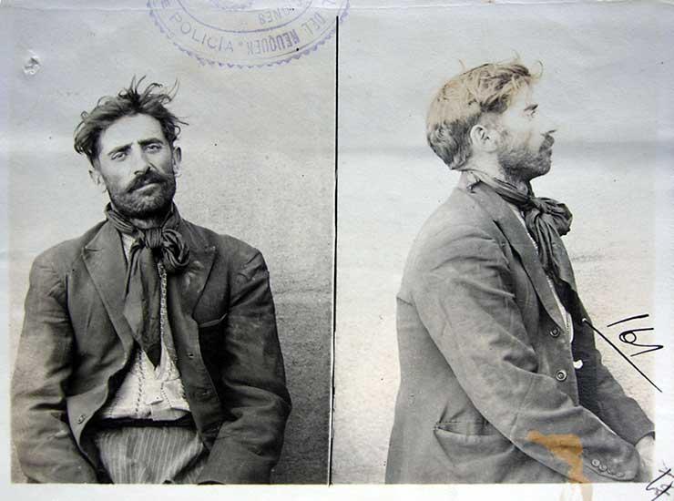 Andrés Gómez, uno de los anarquistas detenidos en Vista Alegre por el asalto a una galera de Correo en China Muerta.