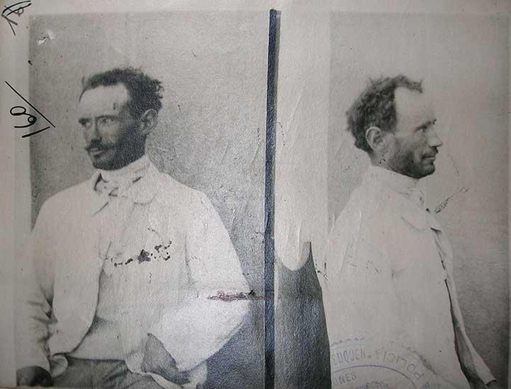 Juan Álvarez, uno de los anarquistas detenidos en Vista Alegre por el asalto a una galera de Correo en China Muerta.