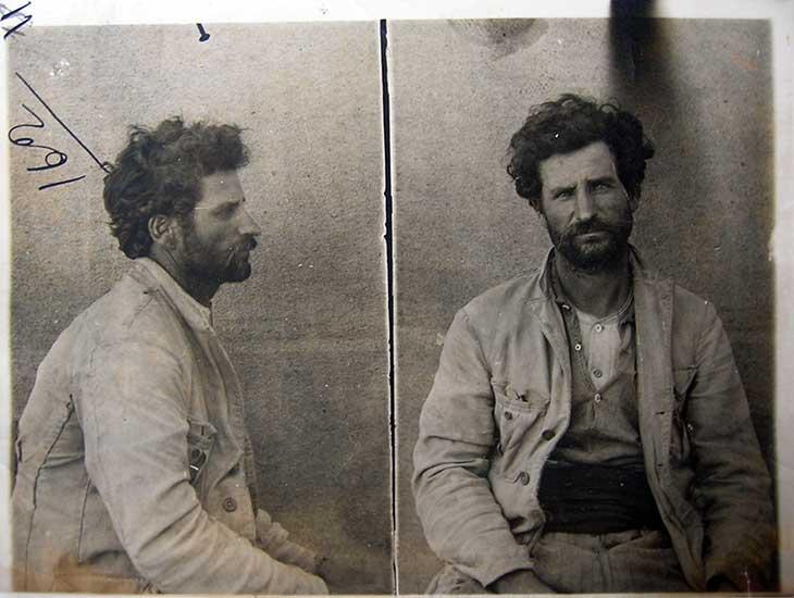 Manuel Viegas, uno de los anarquistas detenidos en Vista Alegre por el asalto a una galera de Correo en China Muerta.