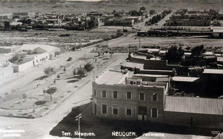 Vista de Neuquén Capital durante la década del 1910.