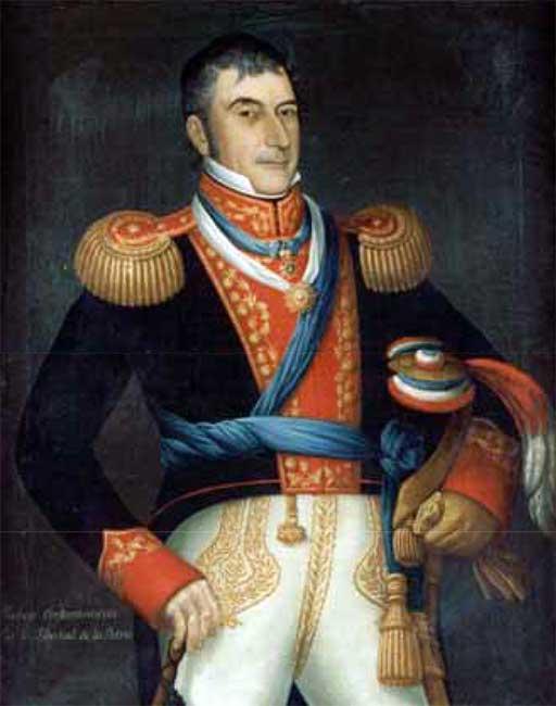 Retrato de Don Luis de la Cruz y Goyeneche (óleo de José Gil de Castro, Museo Histórico Nacional de Chile).