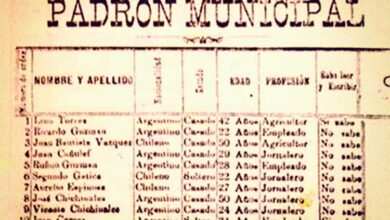 Padrón Municipal de Chos Malal - 1899