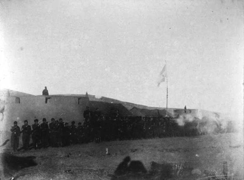 25 de Mayo de 1883 en Codihue - Salva hecho por el Regimiento 11 de Caballería al ponerse el Sol.