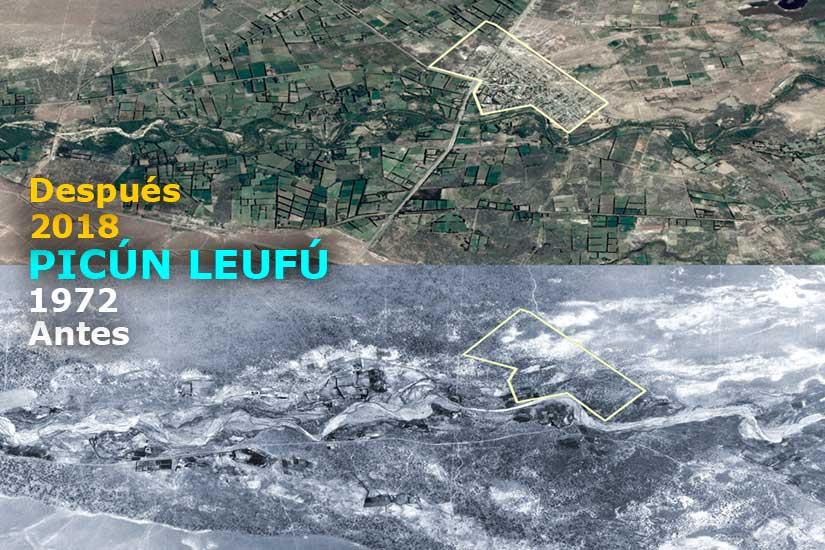 Picun Leufú: Antes y después