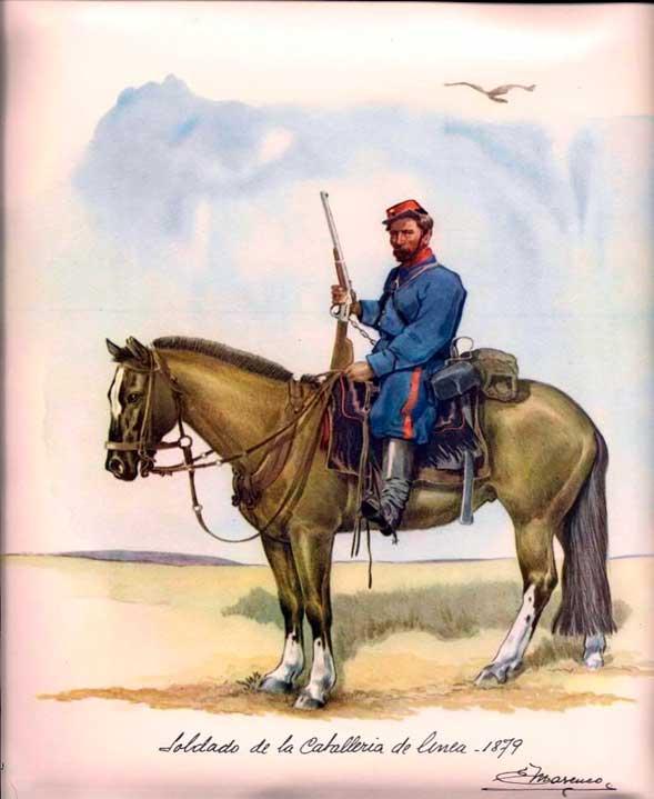Soldado de caballería de línea - 1879