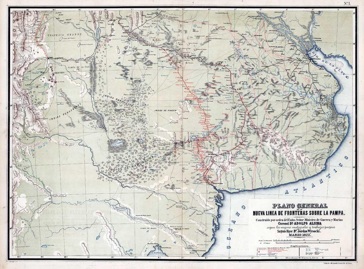 Línea de defensa de Adolfo Alsina en 1877